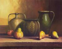水果和瓶子装饰画2