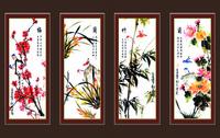 梅兰竹菊装饰画4