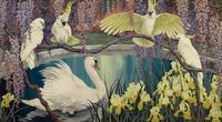 鹦鹉天鹅装饰画