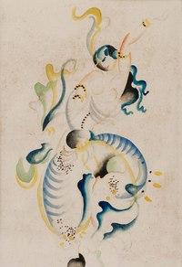 个性美女欧美抽象装饰画
