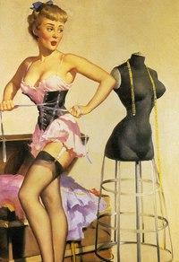美丽时尚复古美女装饰画