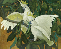 白色美丽鹦鹉装饰画