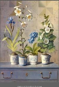 美丽盆栽装饰画