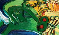 水彩个性欧美抽象装饰画