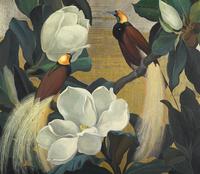 复古美丽花鸟装饰画