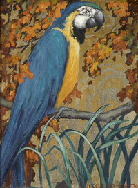 枝头鹦鹉装饰画