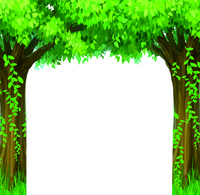 卡通绿树精美装饰画