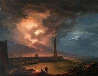 夕阳下的灯塔装饰画