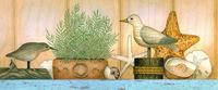 复古木制小鸟装饰画