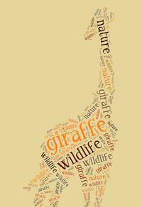 文字长颈鹿装饰画