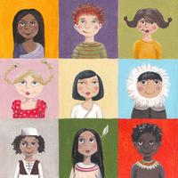卡通小孩装饰画