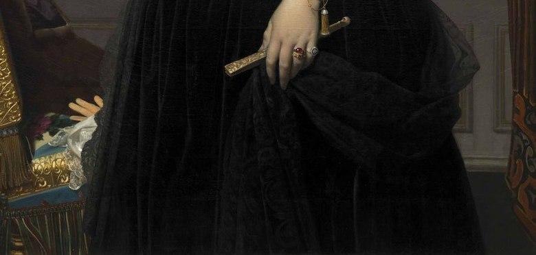 穿黑裙子的女人欧洲宫廷油画