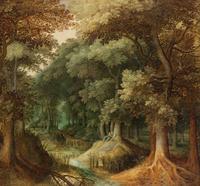 树下的老人装饰画