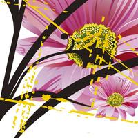 粉色时尚卡通花朵无框画