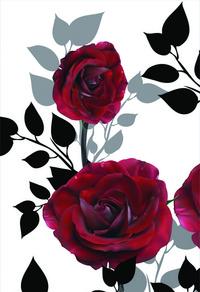 简约红玫瑰装饰画