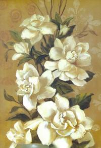 精美白花装饰画1