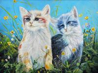 卡通可爱小猫装饰画