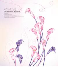 大气精美卡通花朵装饰画