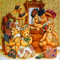 卡通小熊客厅装饰画1