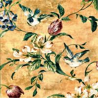 手绘花鸟复古装饰画1