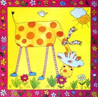 卡通长颈鹿装饰画3