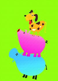 卡通动物装饰画