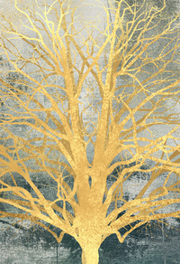 金色发财树装饰画2
