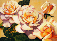 艳阳下的玫瑰装饰画1