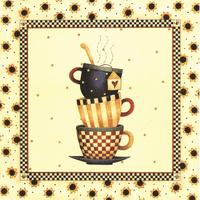 三个咖啡杯装饰画1