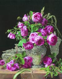凋谢的玫瑰装饰画