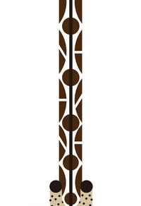创意手绘长颈鹿装饰画