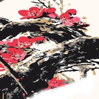 水墨梅花手绘装饰画2