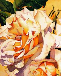 艳阳下的玫瑰花装饰画1