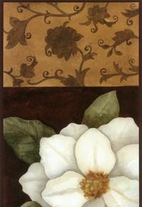 复古怀旧白花装饰画