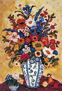 鲜艳花瓶装饰画