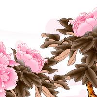 粉色牡丹花装饰画2