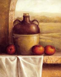 水果和瓶子装饰画1