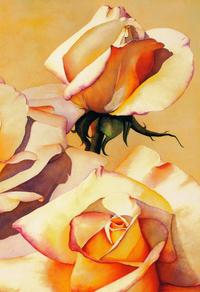 阳光下的玫瑰花装饰画3