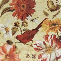 复古花鸟手绘装饰画1