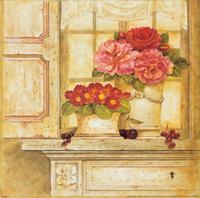 窗户上的花瓶装饰画1