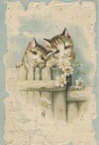 可爱小猫装饰画素材2