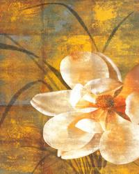 简约复古白花客厅装饰画