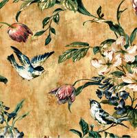 手绘花鸟复古装饰画