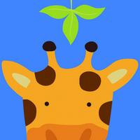 长颈鹿卡通装饰画