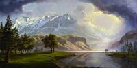 风景雪山装饰画