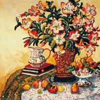 彩色花瓶装饰画