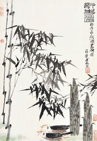 古风竹子装饰画