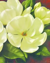 复古白色花朵装饰画3