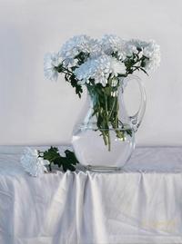 美丽白花装饰画2