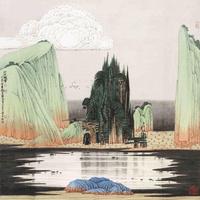 国风山水装饰画